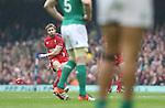 Leigh Halfpenny gets the first points on the board with a penalty kick.<br /> RBS 6 Nations<br /> Wales v Ireland<br /> Millennium Stadium<br /> 14.03.15<br /> &copy;Steve Pope - SPORTINGWALES