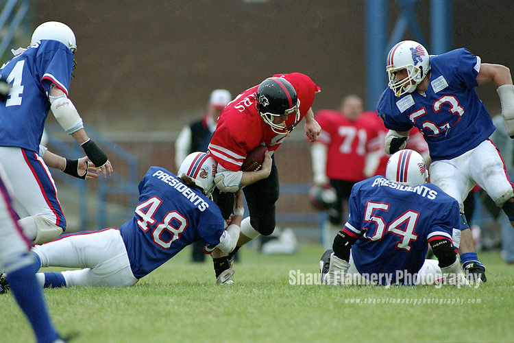 Pix: Shaun Flannery/shaunflanneryphotography.com...COPYRIGHT PICTURE>>SHAUN FLANNERY>01302-570814>>07778315553>>..25th June 1995..Doncaster Jaguars v Durham Presidents..American Football.