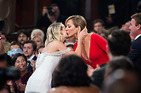 Allison Janney celebrates winning the Oscar&reg; for performance by an actress in a supporting role, for her role in &ldquo;I, Tonya&rdquo; during the live ABC Telecast of The 90th Oscars&reg; at the Dolby&reg; Theatre in Hollywood, CA on Sunday, March 4, 2018.<br /> *Editorial Use Only*<br /> CAP/PLF/AMPAS<br /> Supplied by Capital Pictures
