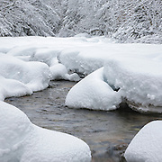 This is the image for the month of January in the 2015 White Mountains New Hampshire calendar. Swift River during the winter months. This river runs along the side of the Kancamagus Highway (route 112) in the White Mountains, New Hampshire USA. It can be purchased here: http://bit.ly/1audUBp