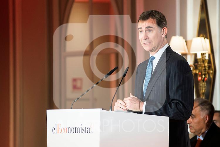 King Felipe VI of Spain during lunch commemorative twentieth anniversary of El Economista at Hotel VillaMagna in Madrid. June 08, 2016. (ALTERPHOTOS/BorjaB.Hojas)