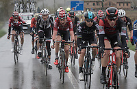 An elite group (with most favorites) was able to ride away from the peloton &amp; thus force the race in a decisive move.<br /> <br /> 11th Strade Bianche 2017