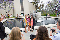 Jenny Quilty, Samantha Sommer and Mikayla Branz. The class of 2015 graduates during Occidental College's 133rd Commencement, the Remsen Bird Hillside Theater, on Sunday, May 17, 2015.<br />