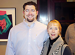 WATERBURY CT. 08 February 2018-020818SV09-From left, Bradford Mahler of Waterbury and Karen Bailey of Waterbury attend The Mattatuck Museum's 5th Annual Beer Fest in Waterbury Thursday.<br /> Steven Valenti Republican-American