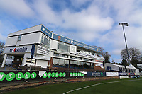 General view of the recently rebranded pavilion during Essex CCC vs Durham MCCU, English MCC University Match Cricket at The Cloudfm County Ground on 2nd April 2017