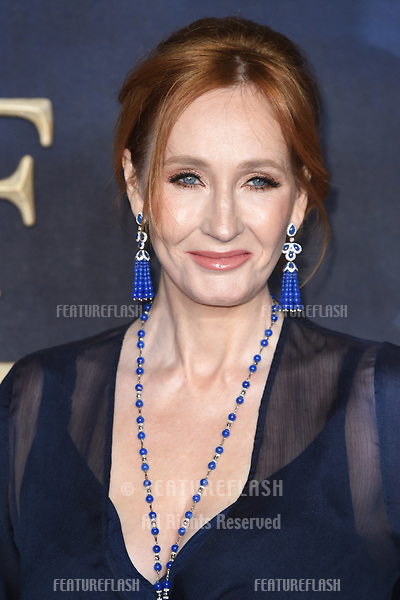 """LONDON, UK. November 13, 2018: J.K. Rowling at the """"Fantastic Beasts: The Crimes of Grindelwald"""" premiere, Leicester Square, London.<br /> Picture: Steve Vas/Featureflash"""