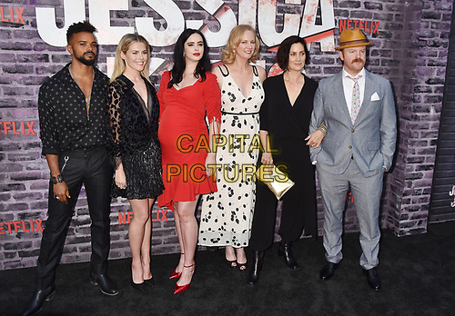 "HOLLYWOOD, CA - MAY 28: (L-R) Eka Darville, Rachael Taylor, Krysten Ritter, Melissa Rosenberg, Carrie-Anne Moss and Jeremy Bobb attend a Special Screening Of Netflix's ""Jessica Jones"" Season 3 at ArcLight Hollywood on May 28, 2019 in Hollywood, California.<br /> CAP/ROT/TM<br /> ©TM/ROT/Capital Pictures"