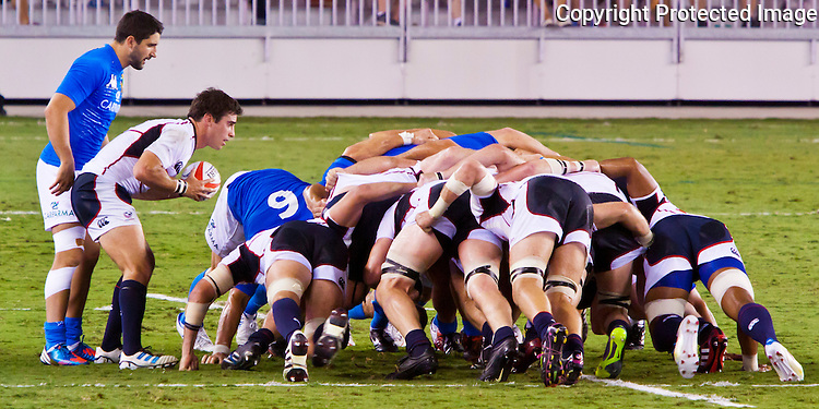 Images from the USA Eagles vs Italy rugby match held 23 June, 2012 in Houston at BBVA Stadium