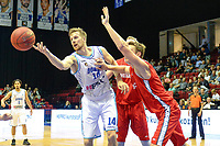GRONINGEN - Basketbal, Donar - Aris, Dutch Baketball League, seizoen 2018-2019, 10-10-2018,  Donar speler Thomas Koenes