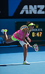 Serena Williams (USA) defeats Madison Keys (USA) 7-6, 6-2 in the semifinals, at the Australian Open being played at Melbourne Park in Melbourne, Australia on January 29, 2015