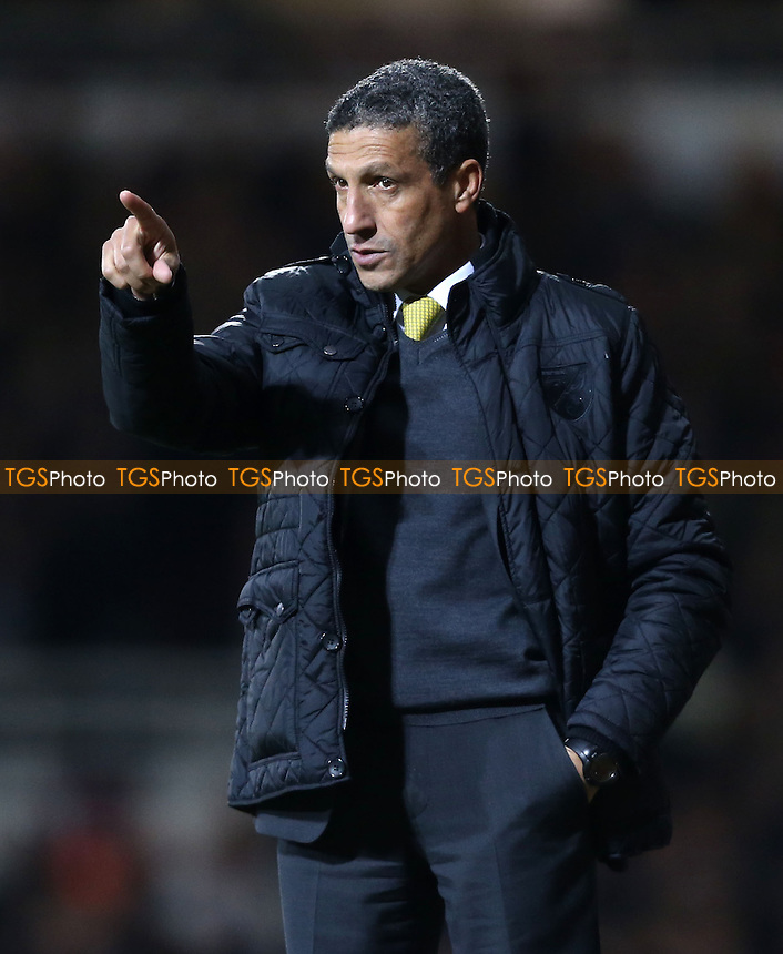 Norwich manager Chris Hughton - West Ham United vs Norwich City, Barclays Premier League at Upton Park, West Ham - 11/02/14 - MANDATORY CREDIT: Rob Newell/TGSPHOTO - Self billing applies where appropriate - 0845 094 6026 - contact@tgsphoto.co.uk - NO UNPAID USE