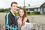 Students from Mounthawk Secondary School, who got their Leaving Cert results on Wednesday: Evan Foley (Cahermoneen) and Katie Liston (Fenit)..