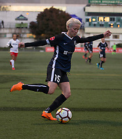 Seattle, WA - Saturday March 24, 2018: Megan Rapinoe during a regular season National Women's Soccer League (NWSL) match between the Seattle Reign FC and the Washington Spirit at the UW Medicine Pitch at Memorial Stadium.