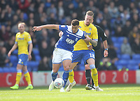 Leeds United's Pontus Jansson battles with  Birmingham City's Che Adams<br /> <br /> Photographer Mick Walker/CameraSport<br /> <br /> The EFL Sky Bet Championship - Birmingham City v Leeds United - Saturday 6th April 2019 - St Andrew's - Birmingham<br /> <br /> World Copyright © 2019 CameraSport. All rights reserved. 43 Linden Ave. Countesthorpe. Leicester. England. LE8 5PG - Tel: +44 (0) 116 277 4147 - admin@camerasport.com - www.camerasport.com
