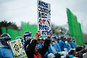 Protest against restart of landfill work for new US base facility at Henoko in Okinawa