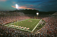 Scott Stadium in Charlottesville, Va. Photo/Andrew Shurtleff..uva football field