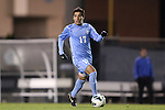 01 November 2012: UNC's Danny Garcia. The University of North Carolina Tar Heels played the Boston College Eagles at Fetzer Field in Chapel Hill, North Carolina in a 2012 NCAA Division I Men's Soccer game. UNC defeated Boston College 4-0.