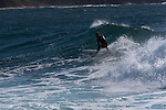 2 metre 10-sec period ESE swell and building SW wind made for the odd interesting section at Dee Why point