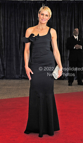 Robin Wright arrives for the 2013 White House Correspondents Association Annual Dinner at the Washington Hilton Hotel on Saturday, April 27, 2013..Credit: Ron Sachs / CNP.(RESTRICTION: NO New York or New Jersey Newspapers or newspapers within a 75 mile radius of New York City)