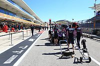 31st October 2019; Circuit of the Americas, Austin, Texas, United States of America; F1 United States Grand Prix, team arrival day; SportPesa Racing Point mechanics push thier car back to the garage after FIA Scrutiny - Editorial Use