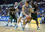January 20, 2016 - Colorado Springs, Colorado, U.S. -  Air Force guard, Zach Kocur #5, scrambles to make a pass during the final seconds of an NCAA basketball game between the Colorado State University Rams and the Air Force Academy Falcons at Clune Arena, United States Air Force Academy, Colorado Springs, Colorado.  Colorado State defeats Air Force 83-79.