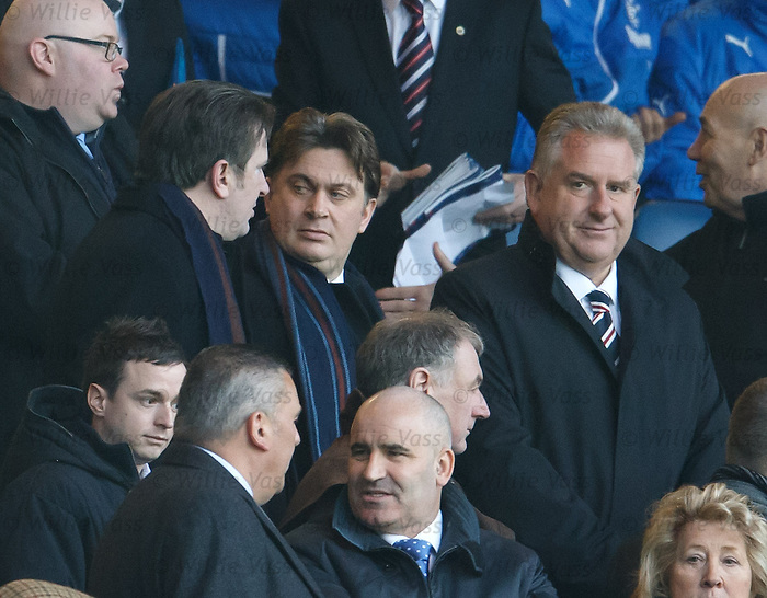 Rangers CEO Graham Wallace in the directors box with Sandy and James Easdale