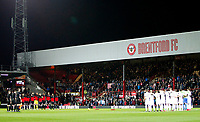 Both Brentford FC and Leeds United FC observe the minutes silence during the Sky Bet Championship match between Brentford and Leeds United at Griffin Park, London, England on 4 November 2017. Photo by Carlton Myrie.