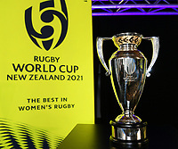 4th February 2020, Eden Park, Auckland, New Zealand;  The Women's Rugby World Cup trophy.<br /> RWC 2021 New Zealand Kick-Off event at Eden Park, Auckland, New Zealand on Tuesday 4th February 2020.
