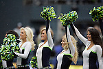 Seattle Seahawks Seagals perform during a time out in their game against the New Orleans Saints during the 2nd round in a NFL Western Division playoff game at CenturyLink Field in Seattle, Washington on January 11, 2014.  Seahawks beat the Saints 22-15 to take home-field advantage in the NFL Championship Game. ©2014. Jim Bryant Photo. ALL RIGHTS RESERVED.