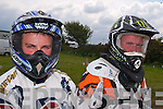 GEARING UP: John Dunne and Tadhg O'Driscoll ready for the off at the Senior Motorcross race on Sunday in Milltown.   Copyright Kerry's Eye 2008