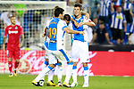 CD Leganes' Ruben Perez, Miguel Angel Guerrero, Martin Mantovani and Ezequiel Matias Munoz celebrate goal during La Liga match. September 8,2017. (ALTERPHOTOS/Acero)