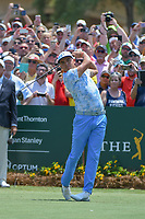 Rickie Fowler (USA) watches his tee shot on 1 during round 1 of The Players Championship, TPC Sawgrass, at Ponte Vedra, Florida, USA. 5/10/2018.<br /> Picture: Golffile | Ken Murray<br /> <br /> <br /> All photo usage must carry mandatory copyright credit (&copy; Golffile | Ken Murray)