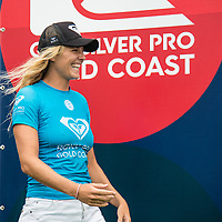 COOLANGATTA, Queensland/AUS (Sunday, March 19, 2017) Stephanie Gilmore (AUS) - The Quiksilver and Roxy Pro Gold Coast was called ON today in three - to - four foot (1 m) surf at Snapper Rocks. The event got underway at 7:05 a.m. with the Men's Quarterfinals followed by the Women's Quarterfinals and ran through to the finals with Owen Wright (AUS) posting a victory with his first event back from injury and Stephanie Gilmore (AUS) adding another Roxy Pro title to her name. Wright defeated defending event champion Matt Wilkinson(AUS) in an all goofy-foot final while Lakey Peterson (USA) was runner up to Gilmore.   Photo: joliphotos.com- The Quiksilver and Roxy Pro Gold Coast was called ON today in three - to - four foot (1 m) surf at Snapper Rocks. The event got underway at 7:05 a.m. with the Men's Quarterfinals followed by the Women's Quarterfinals and ran through to the finals with Owen Wright (AUS) posting a victory with his first event back from injury and Stephanie Gilmore (AUS) adding another Roxy Pro title to her name. Wright defeated defending event champion Matt Wilkinson(AUS) in an all goofy-foot final while Lakey Peterson (USA) was runner up to Gilmore.   Photo: joliphotos.com