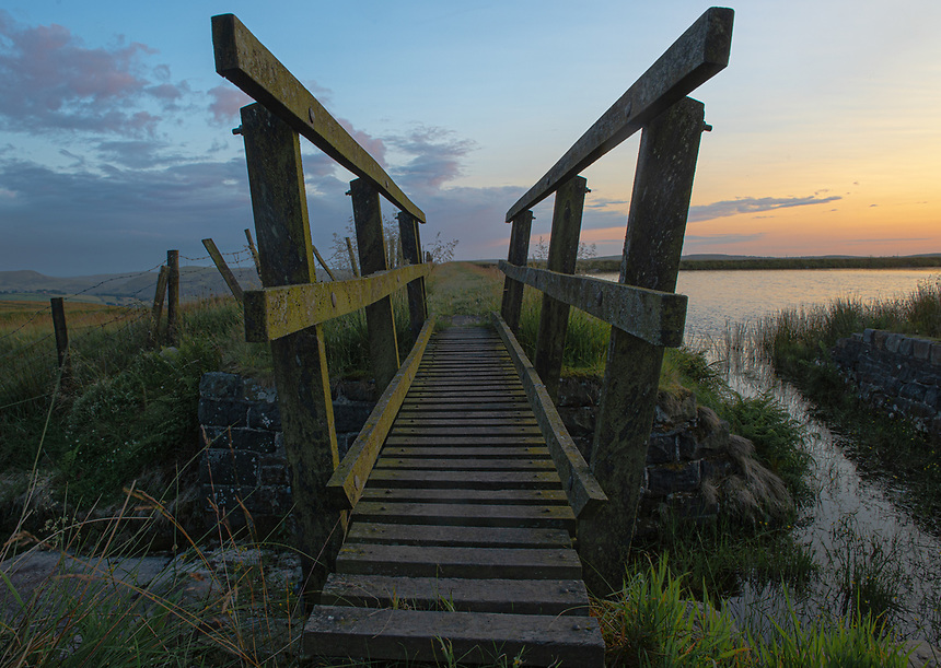 A footbridge by Brun Clough Reservoir, Saddleworth on Thursday 11th July 2019