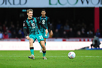 George Byers of Swansea City in action during the Sky Bet Championship match between Brentford and Swansea City at Griffin Park in Brentford, England, UK. Thursday 26 December 2019