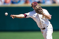 Arizona State's Zach MacPhee in Game 4 of the NCAA Division One Men's College World Series on Monday June 21st, 2010 at Johnny Rosenblatt Stadium in Omaha, Nebraska.  (Photo by Andrew Woolley / Four Seam Images)