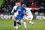 Getafe CF's Nemanja Maksimovic (l) and FC Krasnodar's Tonny Vilhena during UEFA Europa League match. December 12,2019. (ALTERPHOTOS/Acero)