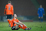 St Johnstone v Dundee United....22.02.11 .Sean Dillon takes a breather.Picture by Graeme Hart..Copyright Perthshire Picture Agency.Tel: 01738 623350  Mobile: 07990 594431