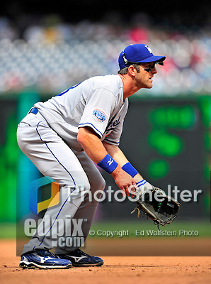25 April 2010: Los Angeles Dodgers' third baseman Casey Blake in action against the Washington Nationals at Nationals Park in Washington, DC. The Nationals shut out the Dodgers 1-0 to take the rubber match of their 3-game series. Mandatory Credit: Ed Wolfstein Photo