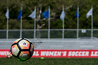 Kansas City, MO - Sunday May 07, 2017:  Soccer ball prior to a regular season National Women's Soccer League (NWSL) match between FC Kansas City and the Orlando Pride at Children's Mercy Victory Field.