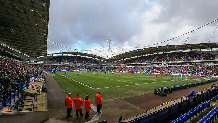 A strong crowd inside the Macron Stadium<br /> <br /> Photographer Alex Dodd/CameraSport<br /> <br /> The EFL Sky Bet League One - Bolton Wanderers v Chesterfield - Saturday 1st April 2017 - Macron Stadium - Bolton<br /> <br /> World Copyright &copy; 2017 CameraSport. All rights reserved. 43 Linden Ave. Countesthorpe. Leicester. England. LE8 5PG - Tel: +44 (0) 116 277 4147 - admin@camerasport.com - www.camerasport.com