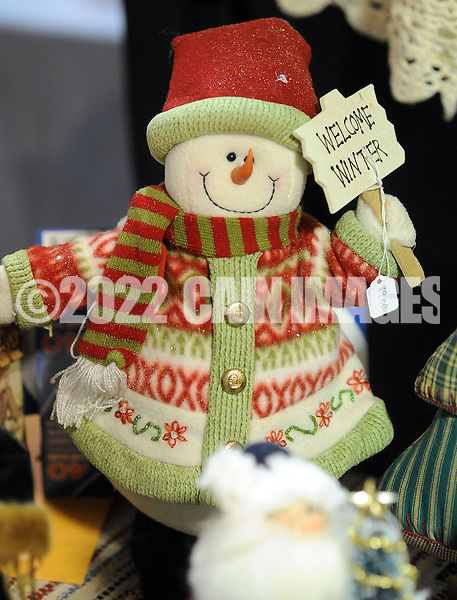 DOYLESTOWN, PA - NOVEMBER 1: A Christmas decoration for sale at the Our Lady of Mount Carmel Holiday Craft Fair  November 1, 2014 in Doylestown, Pennsylvania. Proceeds from this fundraising event will benefit Our Lady of Mount Carmel School. (Photo by William Thomas Cain/Cain Images)