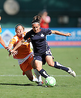 Washington Freedom forward  Lisa De Vanna (17) maintains her composure while Sky Blue FC defender Julianne Sitch (38) tries to stop her.  Washington Freedom defeated Skyblue FC 2-1 at RFK Stadium, Saturday May 23, 2009.