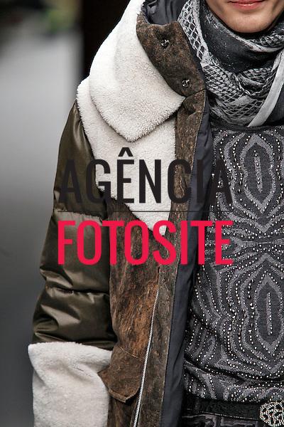 Milao, Italia &ndash; 01/2014 - Desfile de Roberto Cavalli durante a Semana de moda masculina de Milao - Inverno 2014. <br /> Foto: FOTOSITE