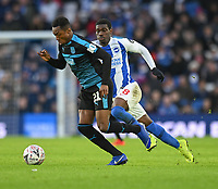 West Bromwich Albion's Kyle Edwards (left) under pressure from Brighton & Hove Albion's Yves Bissouma (right) <br /> <br /> Photographer David Horton/CameraSport<br /> <br /> Emirates FA Cup Fourth Round - Brighton and Hove Albion v West Bromwich Albion - Saturday 26th January 2019 - The Amex Stadium - Brighton<br />  <br /> World Copyright © 2019 CameraSport. All rights reserved. 43 Linden Ave. Countesthorpe. Leicester. England. LE8 5PG - Tel: +44 (0) 116 277 4147 - admin@camerasport.com - www.camerasport.com