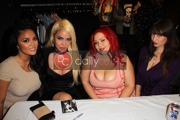 Justene Jaro, Masuimi Max, April Flores, Shay Laren<br />