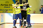 Inter FS's players celebrate goal during UEFA Futsal Cup 2015/2016 Semifinal match. April 22,2016. (ALTERPHOTOS/Acero)