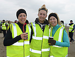 Barbara Kelly, Shauna Browing and Nicola Connolly Byrne who took part in the St Mary's Drumcar 5K run on Bettystown beach. Photo:Colin Bell/pressphotos.ie