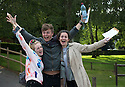 14/08/14 <br /> <br /> L/R: Mollie Wheeldon CCD, Ollie McElroy CDE, Hollie Grief BBC.<br /> <br /> A level students collect their exam results from John Port School, Etwall, Derbyshire. Deputy Head Phil Smith said: &quot;It's been our best year ever. As and A* grades are up by 7 or 8 percent. Twenty seven percent of students achieved the top two grades bring the total tally  for the school to 103. Although obviously their are still some students who didn't get the grades they were hoping for&quot;.<br /> <br /> All Rights Reserved - F Stop Press.  www.fstoppress.com. Tel: +44 (0)1335 300098