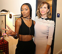 "NEW YORK, NY - JULY 14, 2016 KeKe Palmer and Kristen Wiig backstage at ""Late Night With Seth Meyers"" show July 14, 2016 in New York City. Photo Credit: Walik Goshorn / Mediapunch"